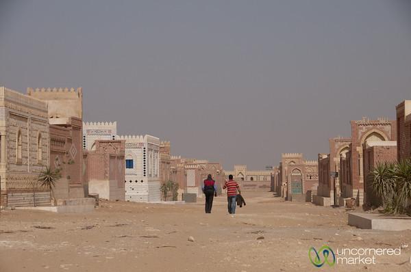 Desert Cemetery, A Walk - Cairo to Fayoum, Egypt