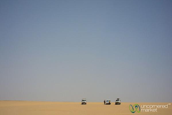 Desert Drive in Fayoum, Egypt