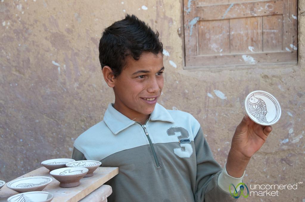 Egyptian Boy with Pottery - Tunis, Egypt