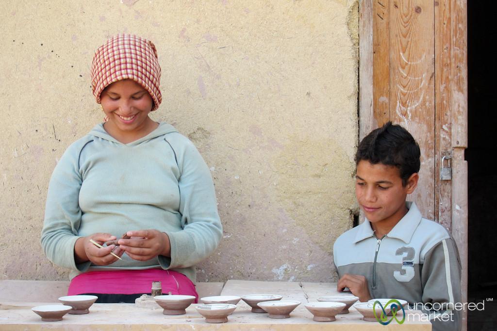 Egyptian Kids Make Pottery - Tunis, Egypt