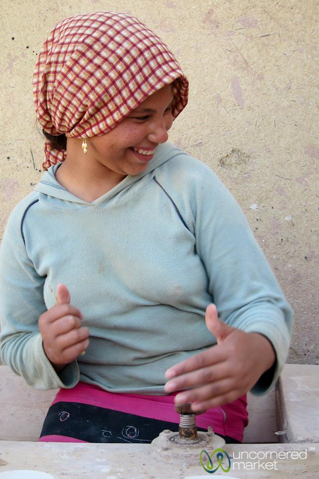 Egyptian Girl Makes Pottery - Tunis, Egypt