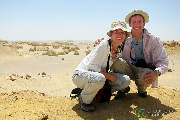 Audrey & Dan at Wadi El-Hitan - Egypt
