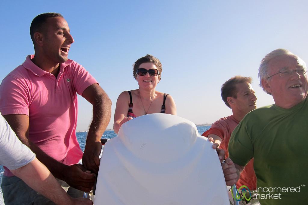 Speedboat outside of Hurghada, Egypt