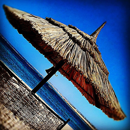 A view from our Red Sea beach hut, Marsa Alam #WeVisitEgypt