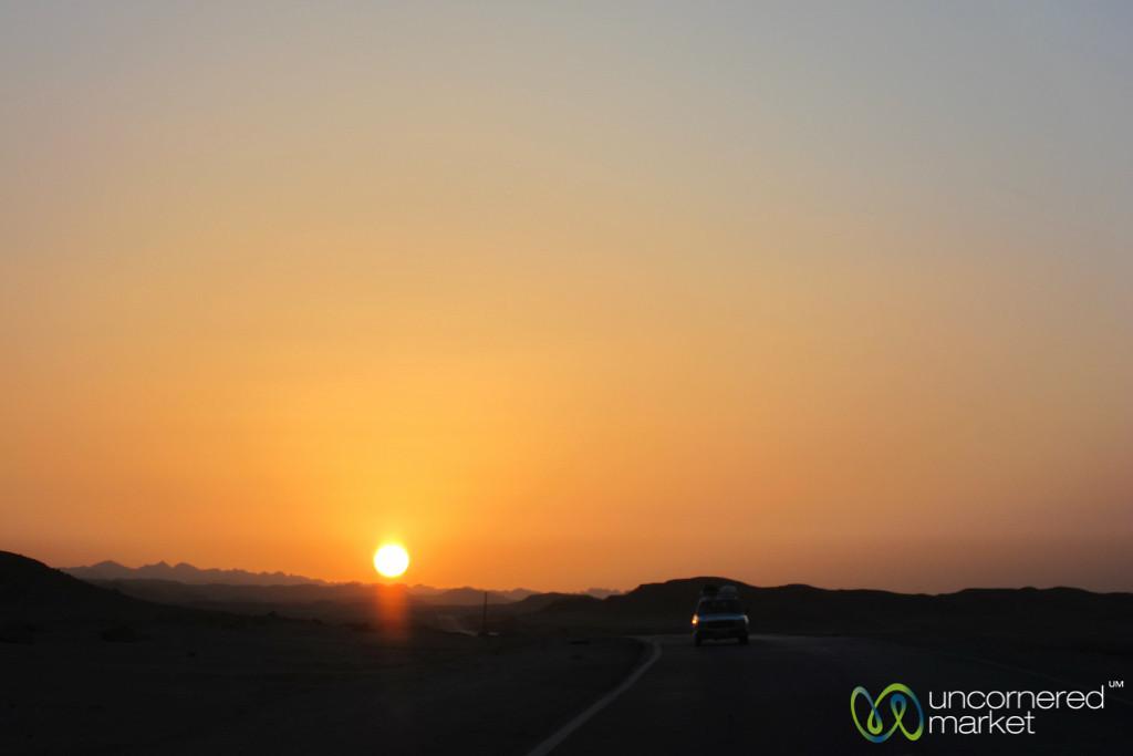 Sunset in the Desert - Marsa Alam, Egypt