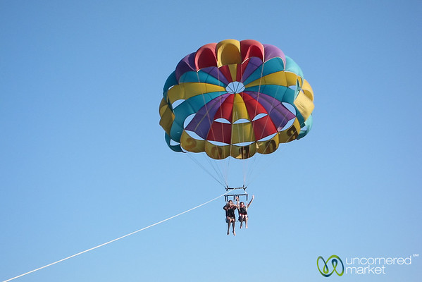 Dan & Audrey Parasailing on Red Sea - Hurghada, Egypt