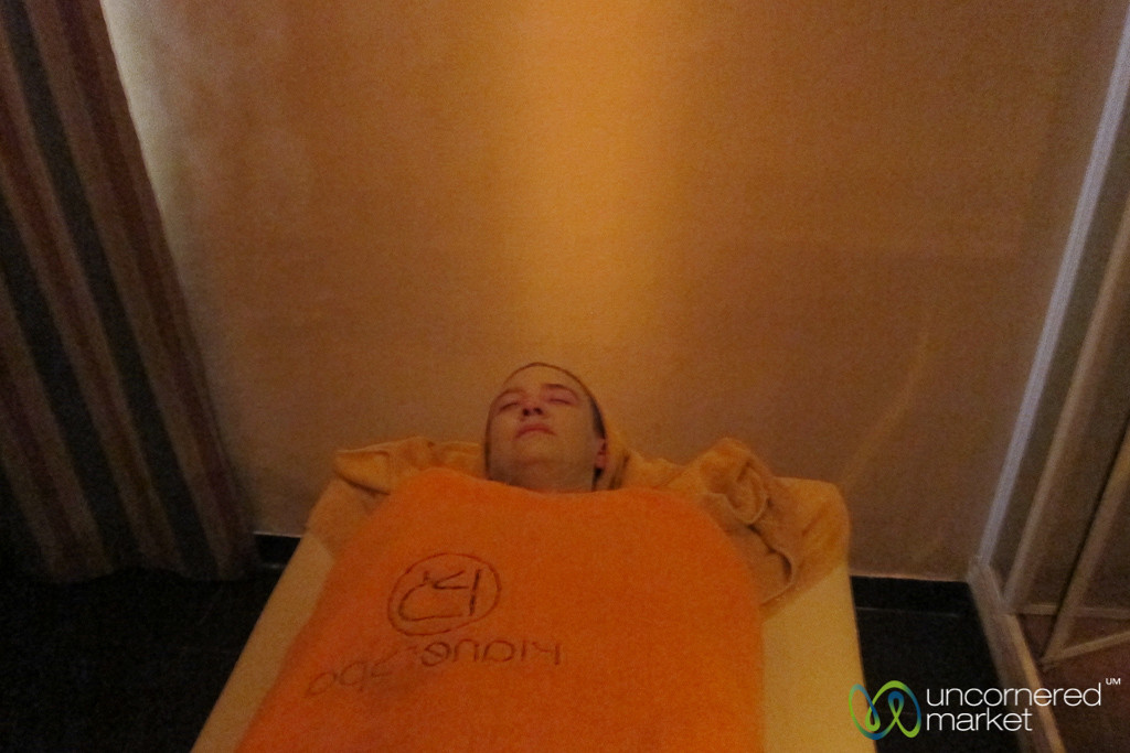 Audrey in Mummy Mode at Spa - Hurghada, Egypt