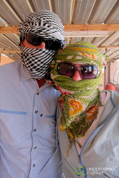 Dan & Audrey Ready for Quad Biking - Hurghada, Egypt