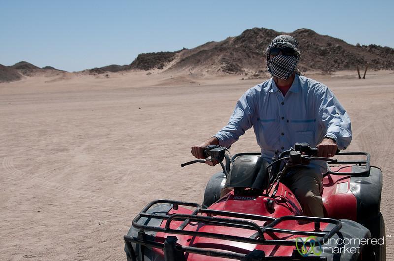 Dan on the Quad Bike - Hurghada, Egypt
