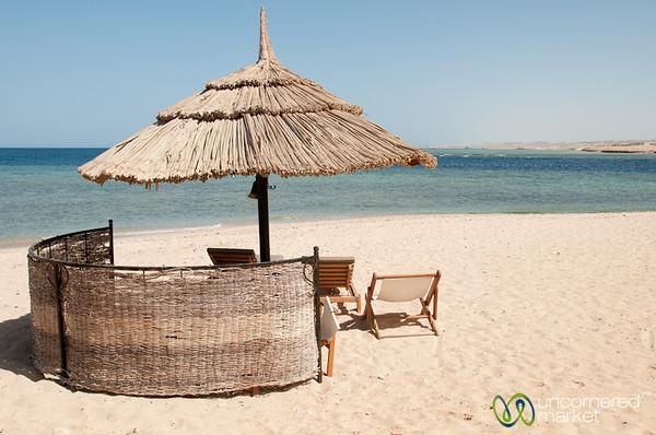 Beach Umbrella in Marsa Alam, Egypt