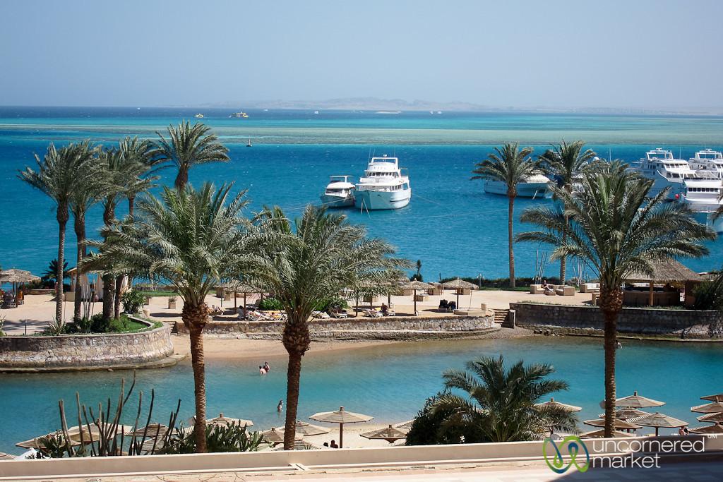 View of Hurghada's Red Sea Coast - Egypt