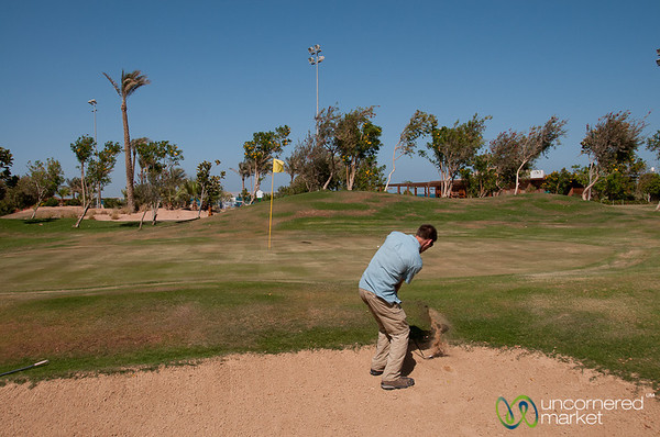 Dan Playing Golf at Steigenberger Al-Dau Hotel - Hurghada, Egypt