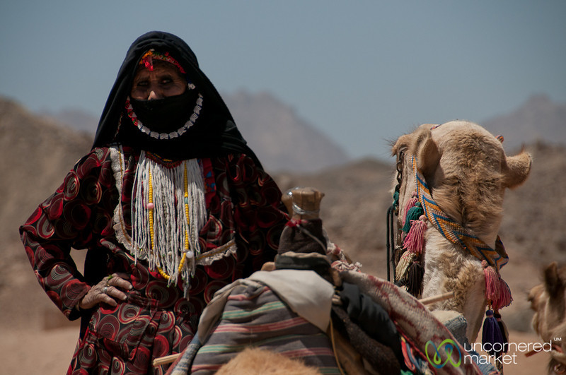 Bedouin Woman with Camel - Hurghada, Egypt