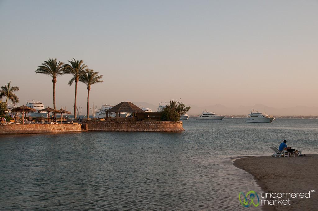 Dusk Along the Red Sea - Hurghada, Egypt
