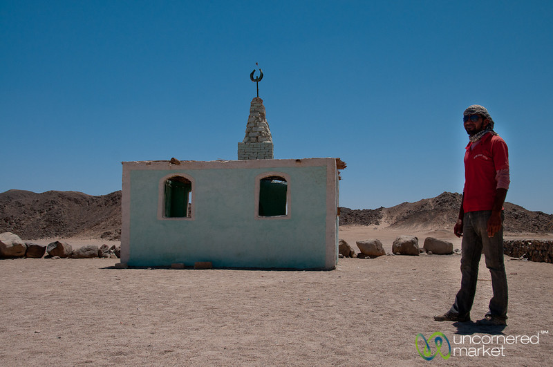 A Bedouin Man and Mosque - Hurghada, Egypt