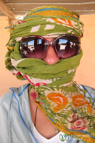Audrey Wrapped up for Quad Biking - Hurghada, Egypt