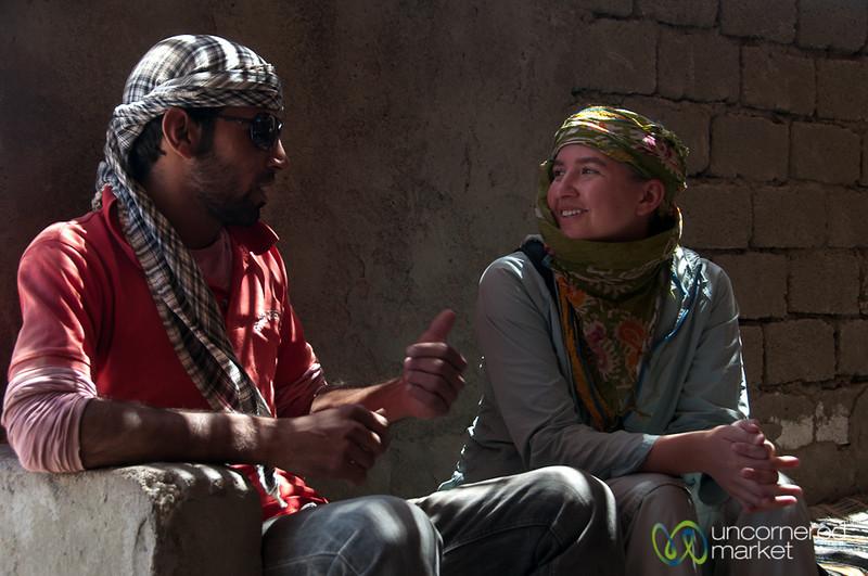 Audrey Interviews a Bedouin - Hurghada, Egypt