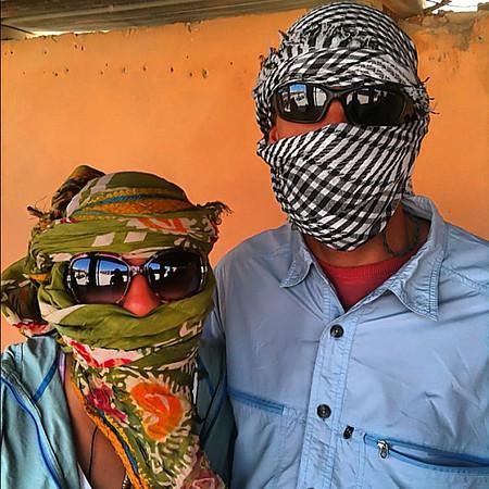 Wrapped for the desert quad ride, Hurghada #WeVisitEgypt @LoveEgypt