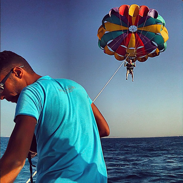 Parasailing the Red Sea, Hurghada #WeVisitEgypt @LoveEgypt