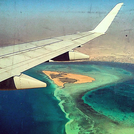 Blue water, morning descent into Hurghada #WeVisitEgypt @LoveEgypt