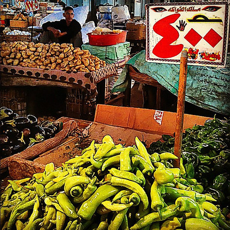 Peppers and a moment at the fresh market, Hurghada #WeVisitEgypt