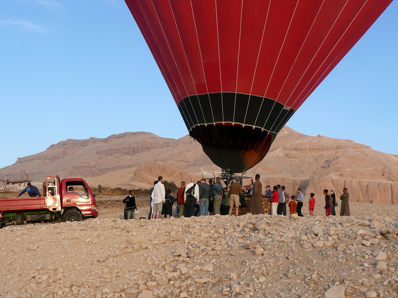 www.alaskaballoon.com  Sunrise Balloon Flight Over the west bank of the Nile, Theban Necropolis and Valley of the Kings ,2007