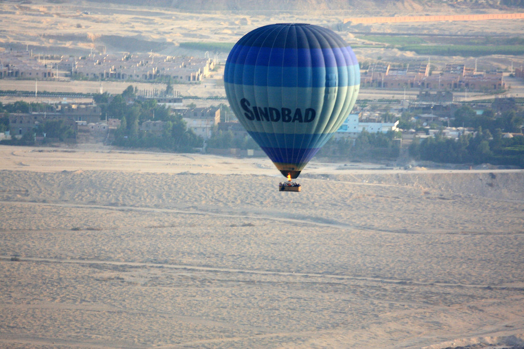 Sunrise Balloon Flight Over the west bank of the Nile, Theban Necropolis and Valley of the Kings ,2007