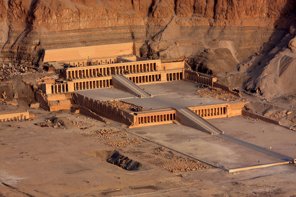 high above the Temple of Hatshepsut ,2007