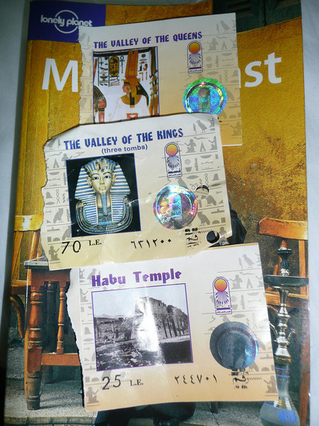 2007, The Temple at Medinat Habu, ticket stubs