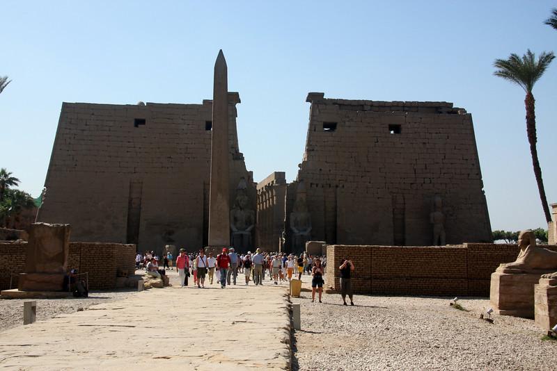 Luxor Temple, main entrance. Luxor, Egypt, 2007