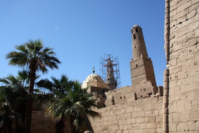 The 13th century Mosque of Abu el-Haggag here, continues to be used today. Luxor, Egypt, 2007