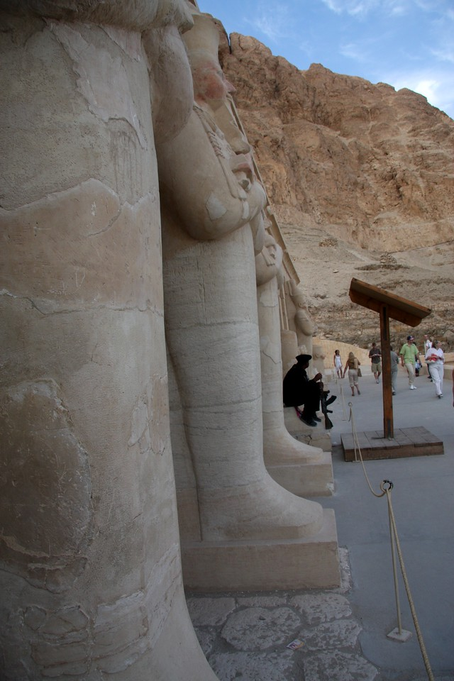 The Mortuary Temple of Queen Hatshepsut is situated beneath the cliffs at Deir el Bahari on the west bank of the Nile near the Valley of the Kings in Egypt. ,2007