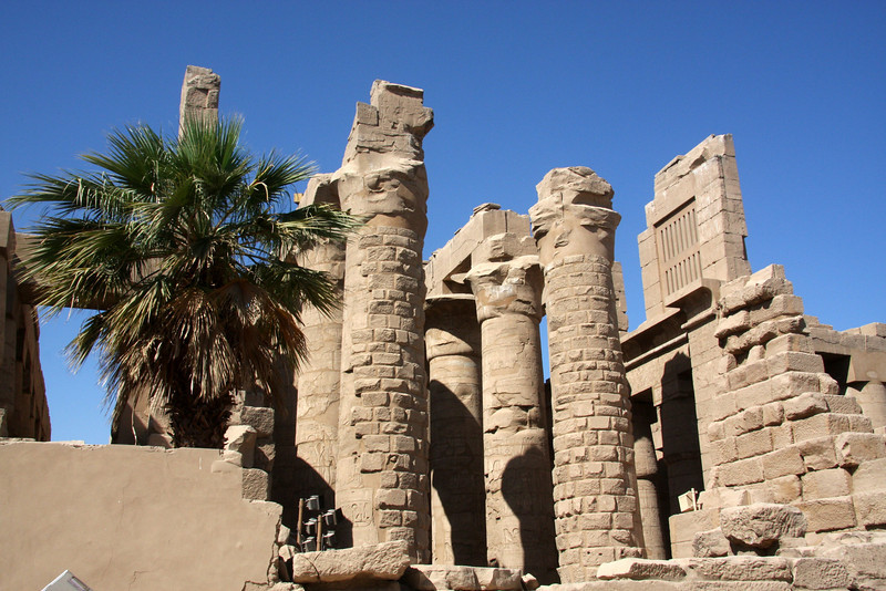 2007: The Temple of Karnak, Luxor.  Actually three main temples, smaller enclosed temples, and several outer temples located about three kilometers north of Luxor, Egypt  Although badly ruined, no site in Egypt is more impressive than Karnak. It is the largest temple complex ever built by man, and represents the combined achievement of many generations of ancient builders.