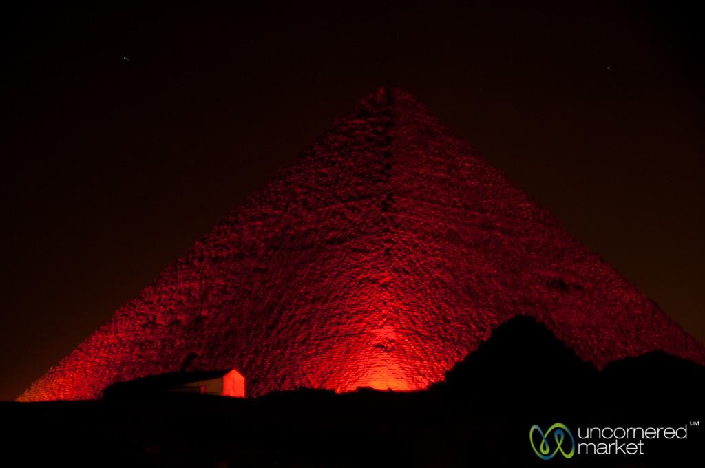Great Pyramid at Night - Giza Pyramids, Egypt