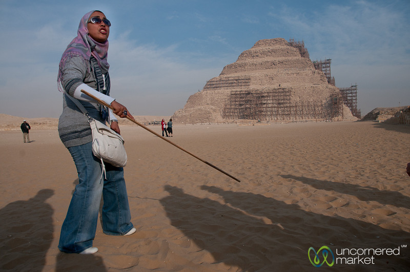Guide Explains Saqqara Pyramid - Egypt