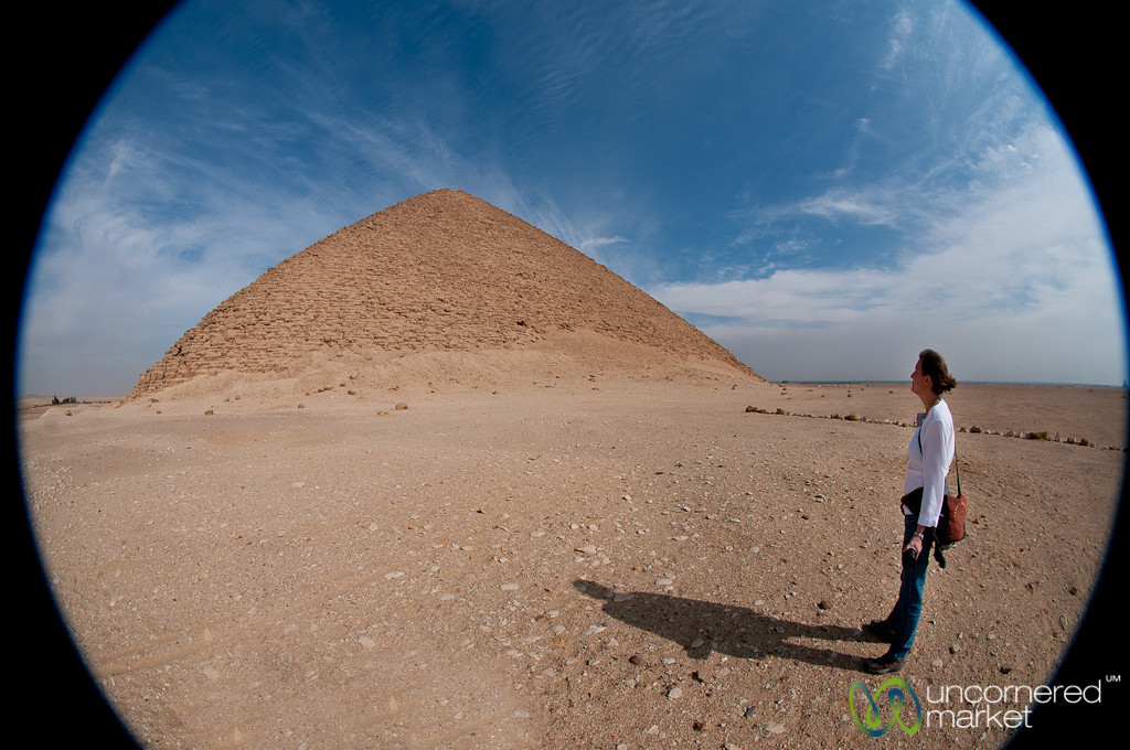 Audrey at Red Pyramid, Fisheye - Egypt