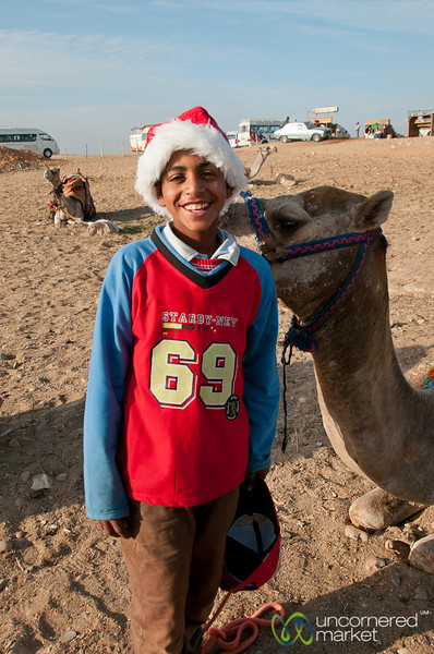 Christmas Spirit at the Giza Pyramids - Egypt
