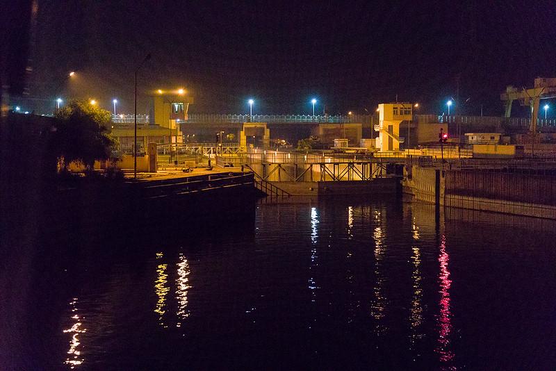Locks at Aswan in early morning