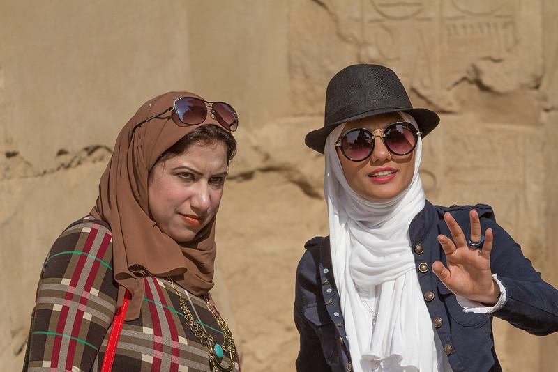 Women at Karnack Temple