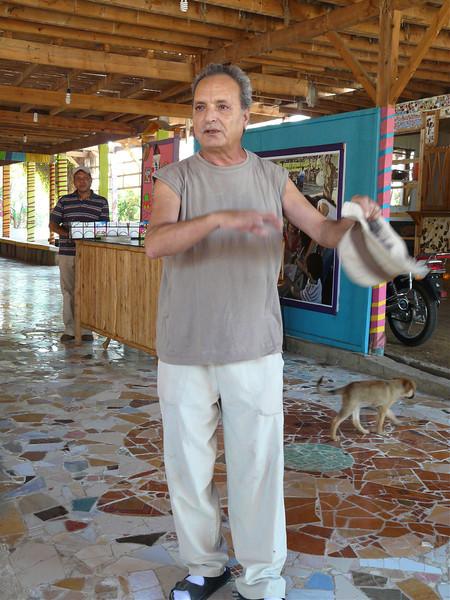 Mohamed Allam, founder of Fagnoon Art School in Cairo, Egypt.