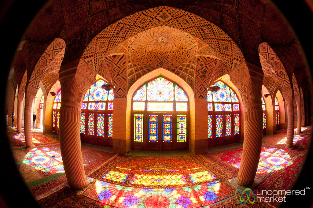Stained Glass Windows at Pink Mosque - Shiraz, Iran