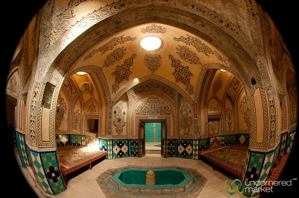 Fisheye View of Iranian Hammam - Kashan, Iran