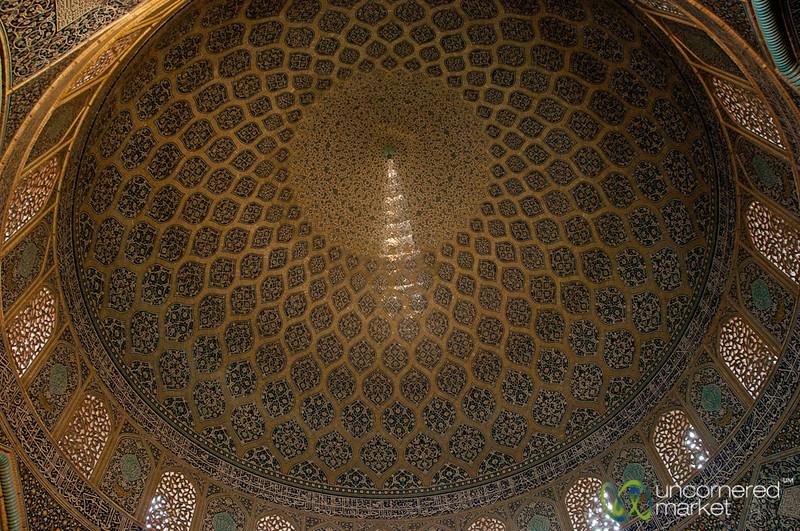 Peacock on Sheikh Lotf Allah Dome - Esfahan, Iran