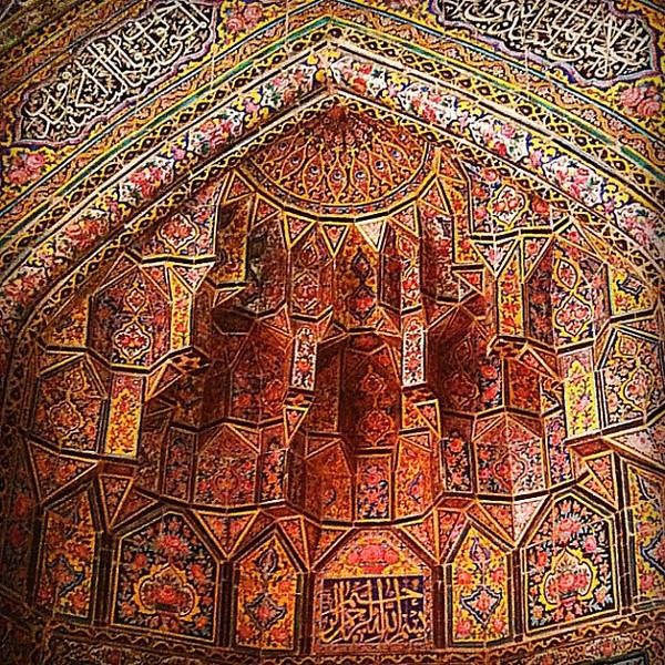 Dazzling Persian design and tilework, Pink Mosque in Shiraz, #Iran #wir #gadv #dna2iran