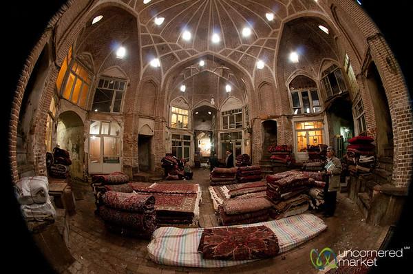 Old Iranian Carpets at Tabriz Bazaar, Iran