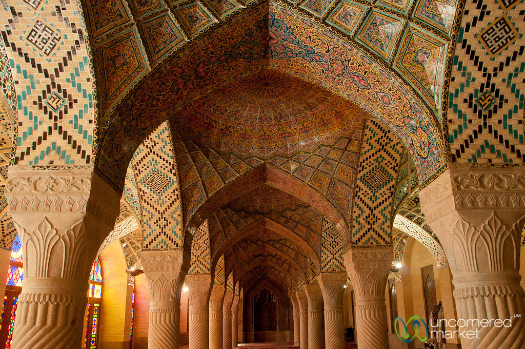 Inside the Pink Mosque - Shiraz, Iran