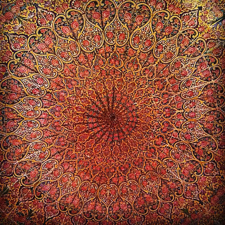 Pink Mosque ceiling. Mesmerizing Persian design. Shiraz, #Iran. #wir #gadv #dna2iran
