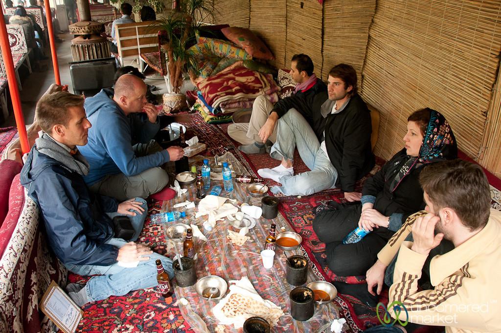 Iranian Restaurant, Eating Dizi - Hamadan, Iran