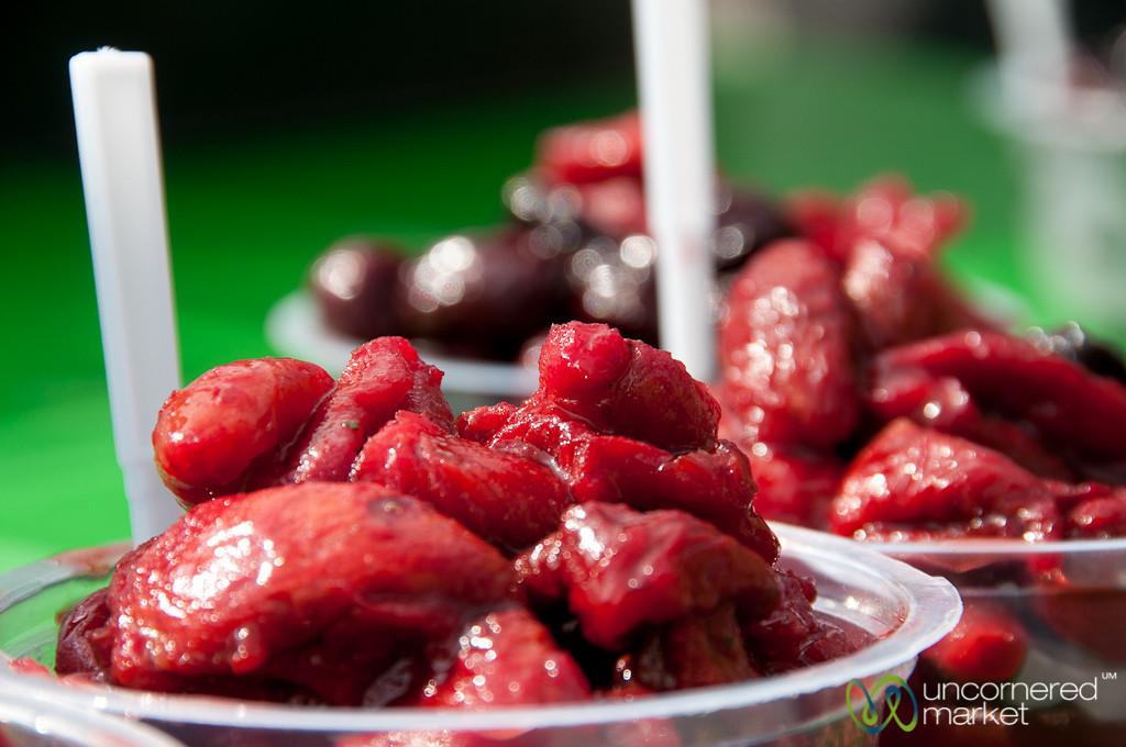 Sour Cherries and Fruit - Hamadan, Iran