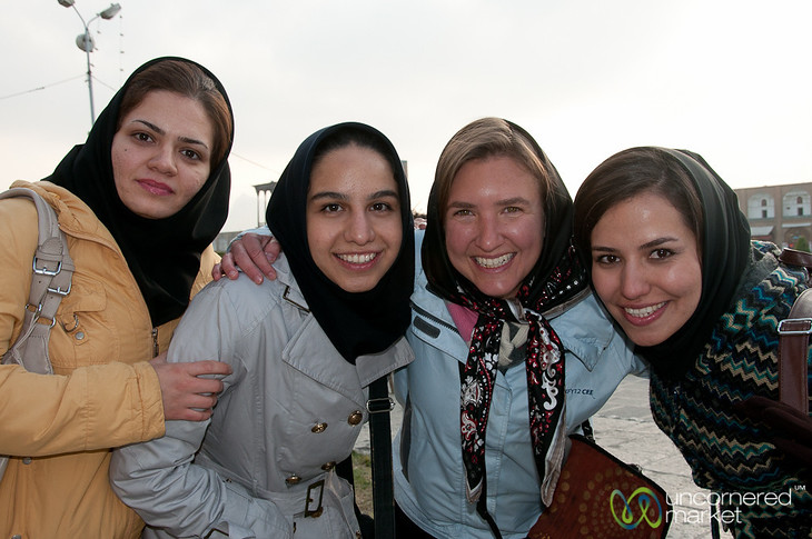 Audrey with University Students - Isfahan, Iran